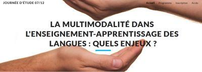 Journée d'étude : la multimodalité dans l'enseignement-apprentissage des langues
